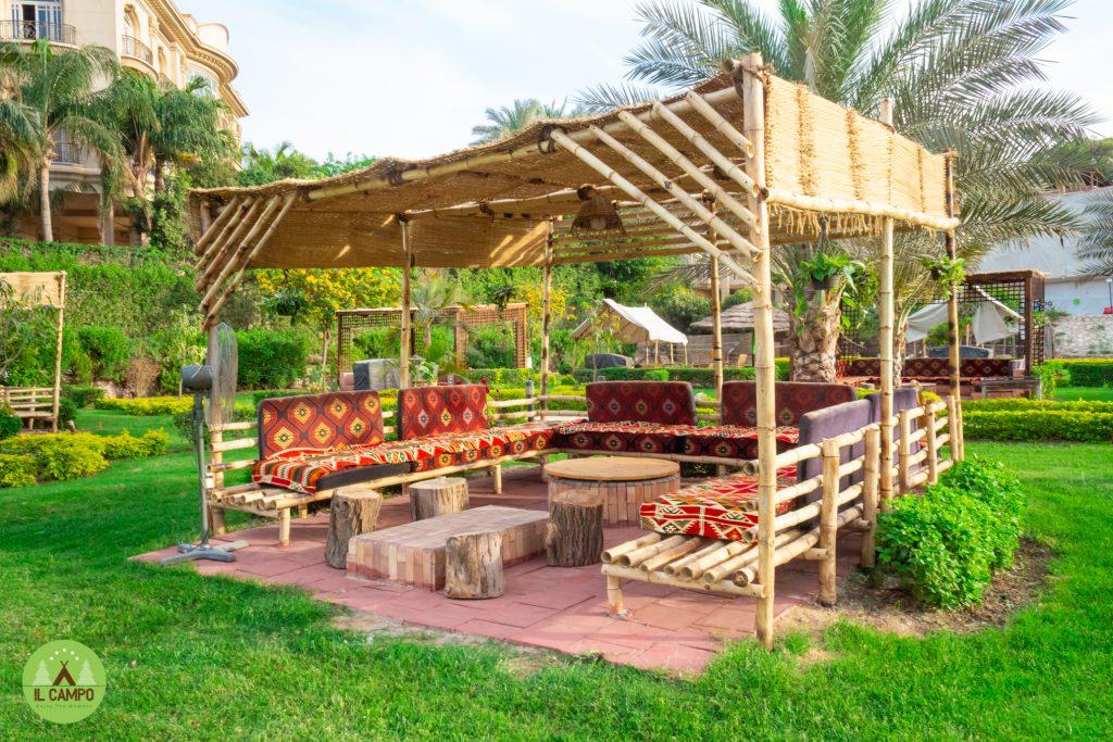 Bamboo pergola private area